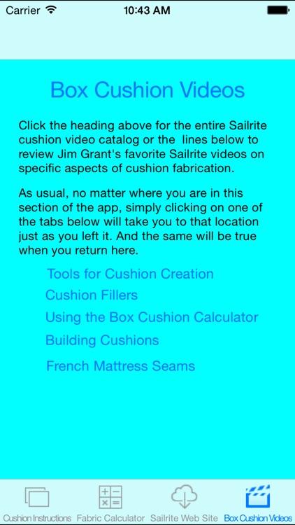 Box Cushion Fabrication Pro screenshot-4