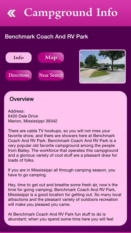 Mississippi Campgrounds and RV Parks