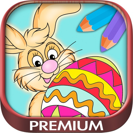 Color Easter eggs  Paint bunnies coloring game for kids - Premium