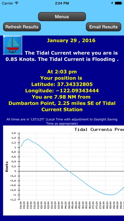West Coast Tidal Currents by Date and Location screenshot-3