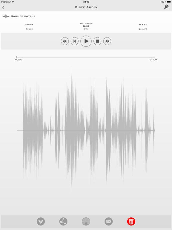 Screenshot #4 pour My Rec - Enregistreur Audio