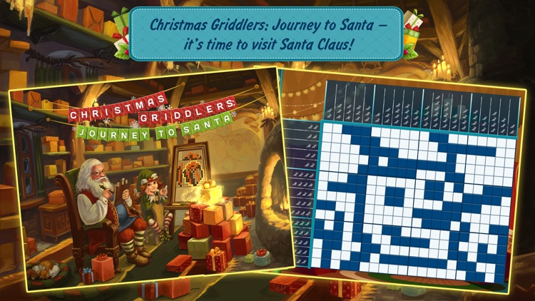 Christmas Griddlers: Journey to Santa — Picross mind numbers puzzle game
