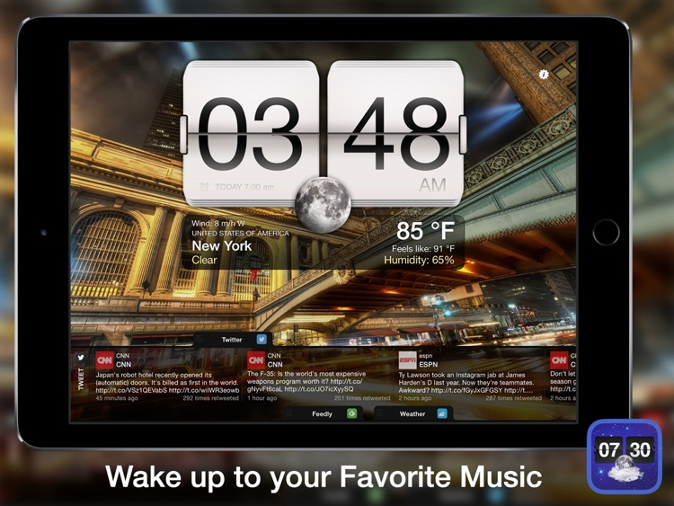 Night Stand for iPad - Social Reader, Weather & Alarm Clock