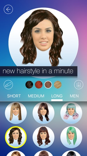 Hair makeover new hairstyle and haircut in a minute on the app store screenshots solutioingenieria Image collections