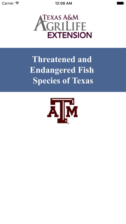 Threatened and Endangered Fish Species of TX