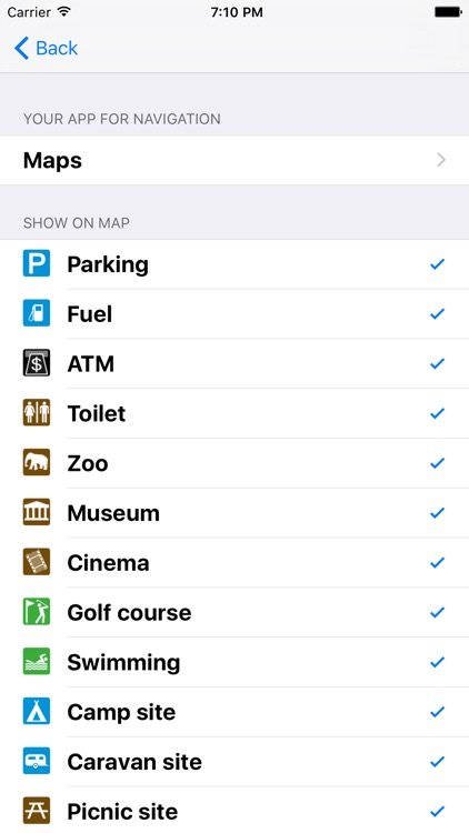 Leisuremap Canada, Camping, Golf, Swimming, Car parks, and more screenshot-4