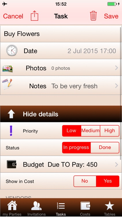 myParties - Event Planner (Party Planning) Free