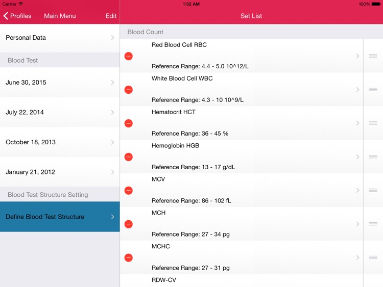 My Blood Test for iPad screenshot-4