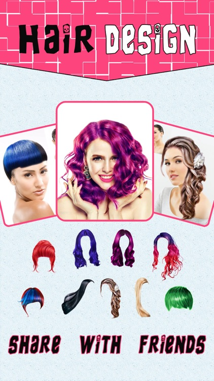 Girly Hair Design Pro - Wig Salon to Change Hairtyle & Color screenshot-4