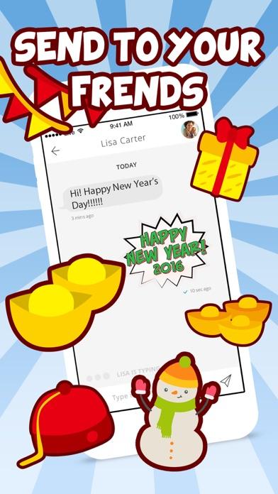 New Year Emoji - Holiday Emoticon Stickers & Emojis Icons for Message Greeting screenshot three