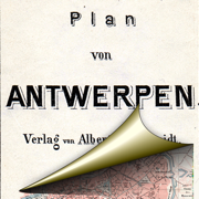 Антверпен (1908). Историческая карта.