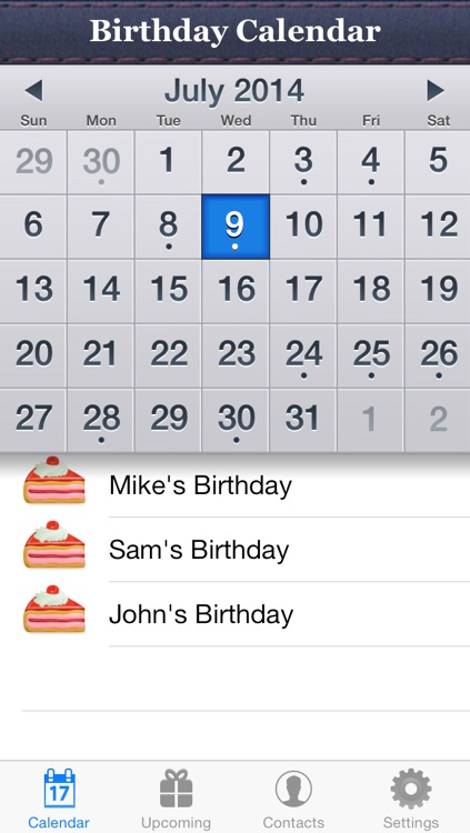 Birthday Reminder & Calendar+