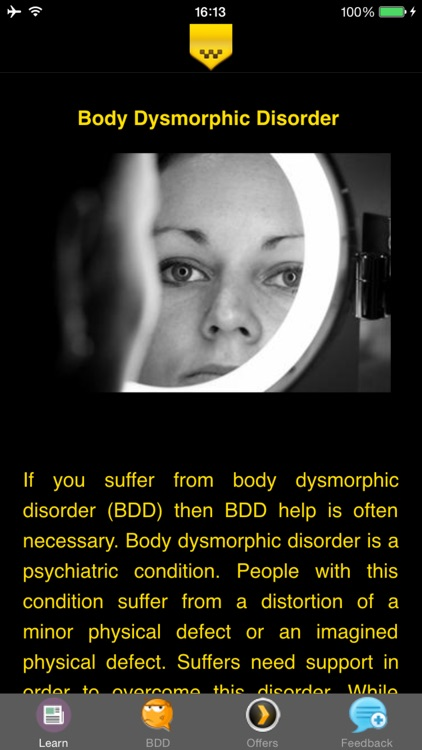Body Dysmorphic Disorder - Signs and Suggested Treatment