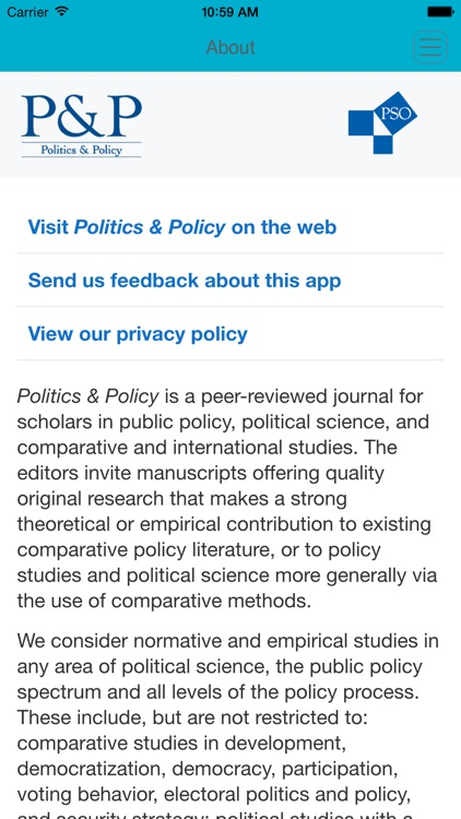 Politics & Policy screenshot-3