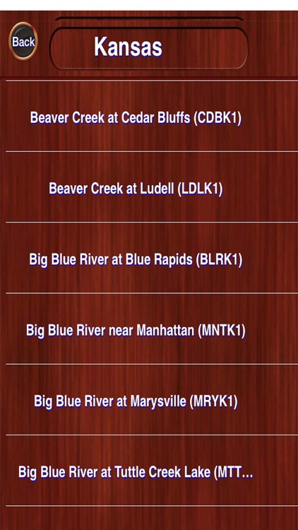 US Rivers Weather Information (from NOAA)