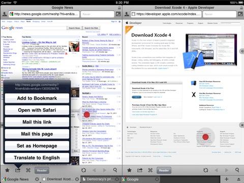 Screenshot #5 for Maven Web Browser Plus - The most ergonomics friendly browser