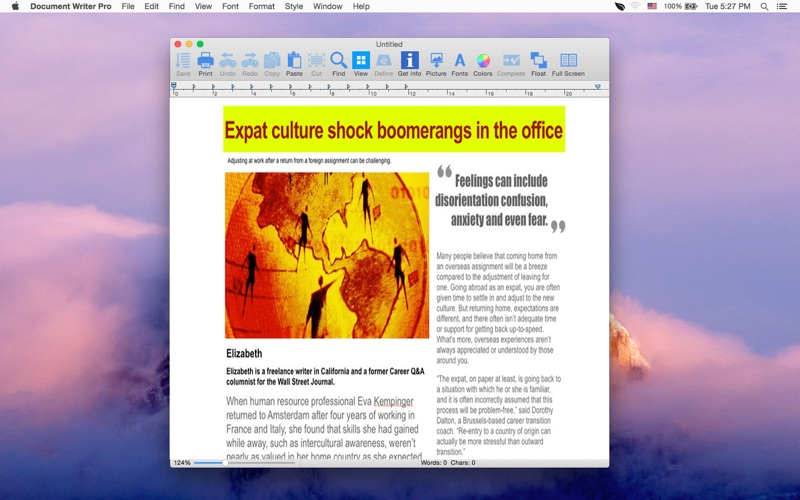 Document Writer Pro - For MS Word and Open Office Screenshot