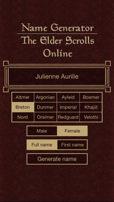 Name Generator for The Elder Scrolls Onlineのおすすめ画像2