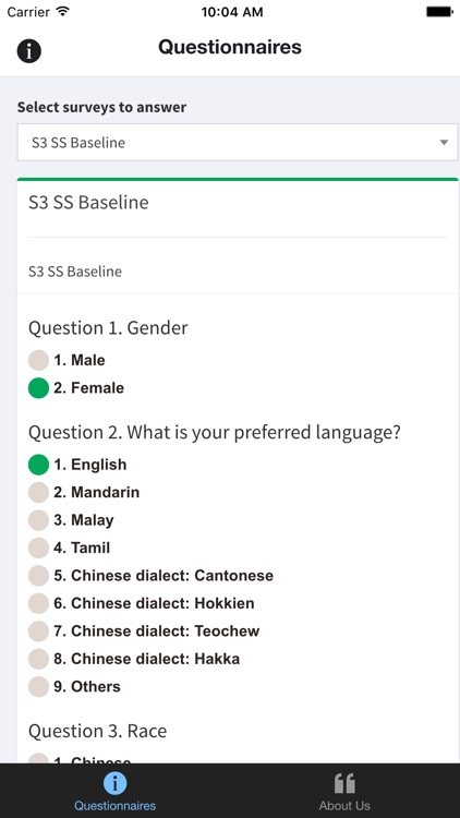 S3 Survey Application