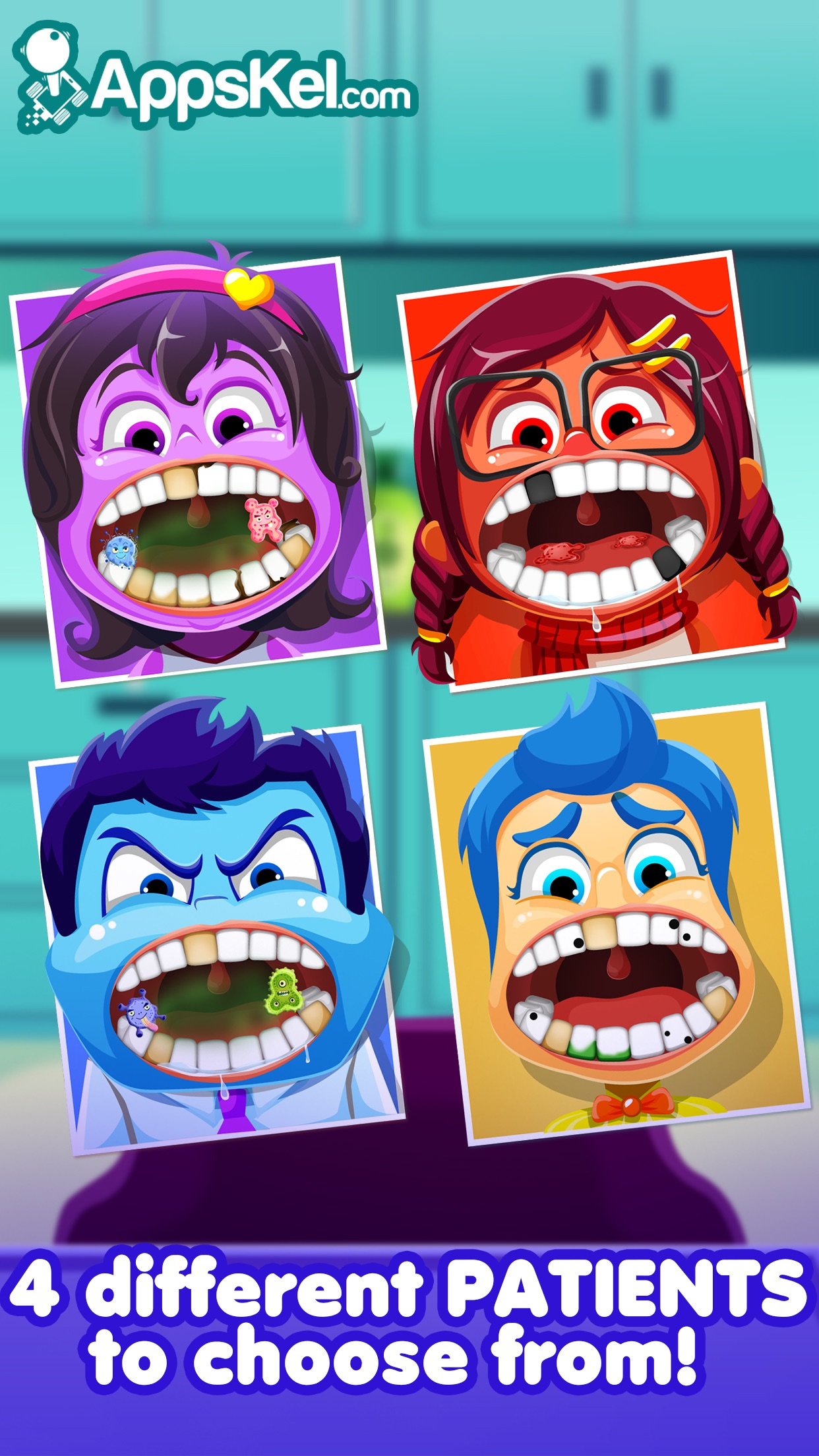 Inside Little Nick's Dentist Office – Crazy Tooth Story Games Free Screenshot