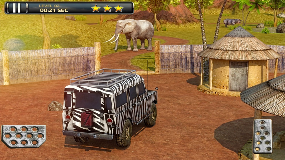 3D Safari Parking Free – Realistic Lion, Rhino, Elephant, and Zebra Adventure Simulator Games