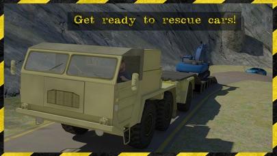 excavadora 3d rescate transportador Simulador estar listo para rescatar a los coches en este juego de alto transportador excavadora potencia extremaCaptura de pantalla de2