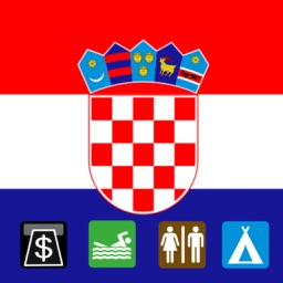 Leisuremap Croatia, Camping, Golf, Swimming, Car parks, and more