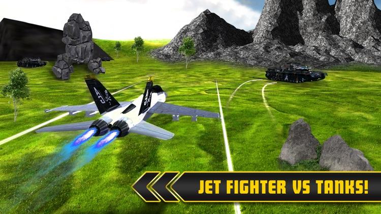 Fighter Jets Tank Attack War 3D screenshot-3
