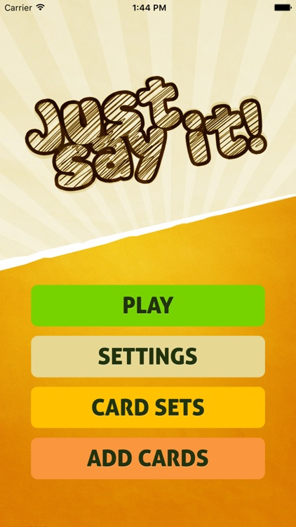 Just Say It! - Charades party game