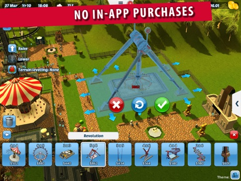Screenshot #2 for RollerCoaster Tycoon® 3