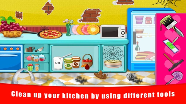 Baby doll house cleaning and decoration free fun games for Baby room decoration games free online