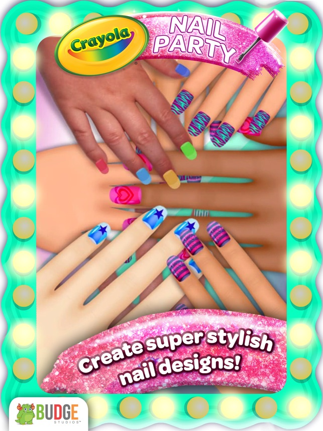 Crayola Nail Party A Nail Salon Experience On The App Store
