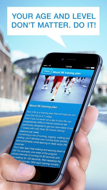 Run 5K! 7-Week Training Plan, GPS & Running Tips by Red Rock Apps screenshot-4