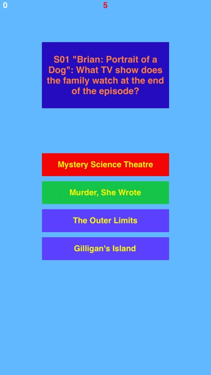 Trivia for Family Guy a fan quiz with questions and answers