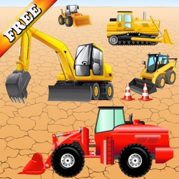 Digger Puzzles for Toddlers and Kids : play with construction vehicles ! FREE game