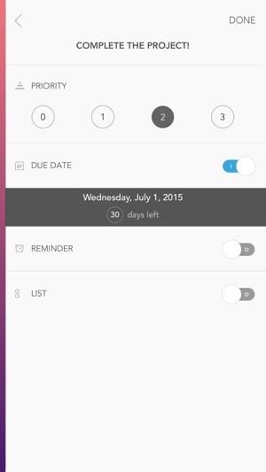 Prio - Task List & Reminder Screenshot