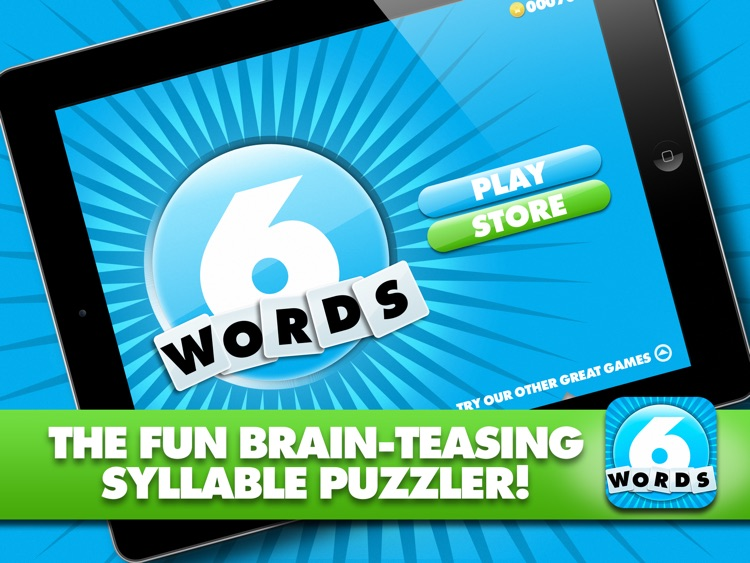 Just 6 Words HD - Use the syllables and build the words screenshot-4