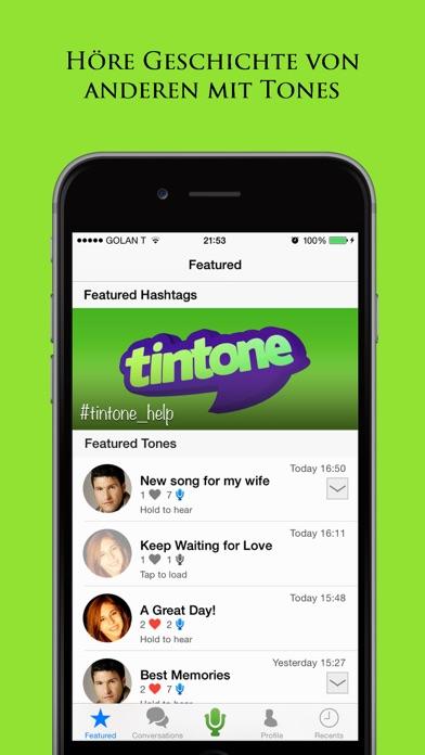 Tintone: Treffen Sie neue Leute Freunde durch ChatScreenshot von 2