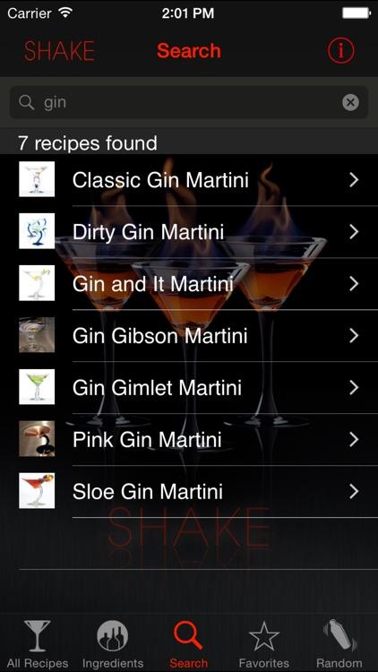 SHAKE : Martini Recipes screenshot-3