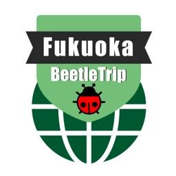 Fukuoka travel guide and offline city map, Beetletrip Augmented Reality Kyushu Hakata Metro Train and Walks