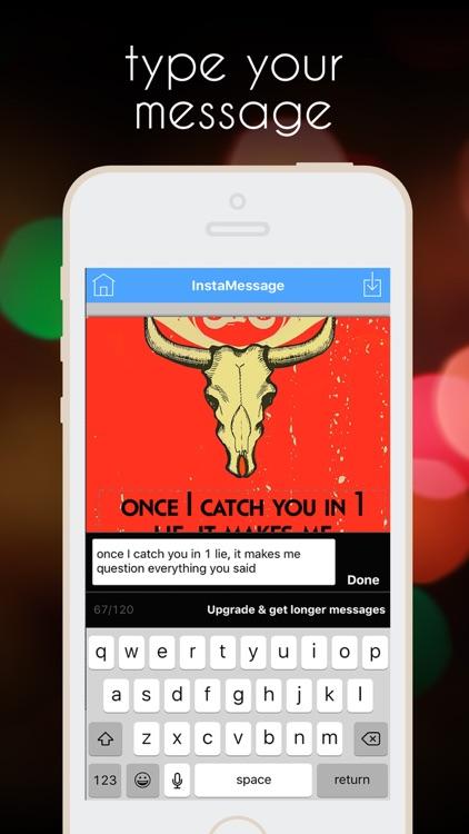 InstaMessage - Post Text Messages on Instagram app image