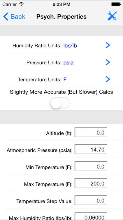 HVAC Psychrometric LT screenshot-3