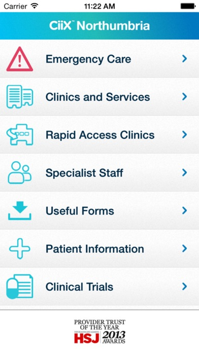 Northumbria GP Clinical Information Xchange (Ciix) screenshot one