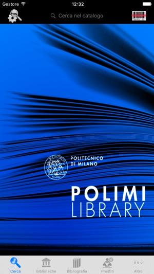 Polimi library su app store for Politecnico di milano servizi online