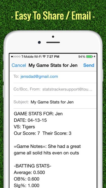 Softball Stats Tracker Fastpitch screenshot-4