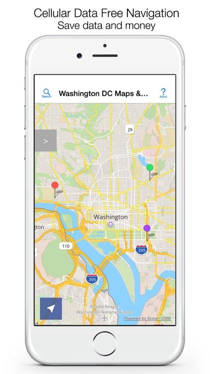 Washington DC Offline Maps & Offline Navigation screenshot-0