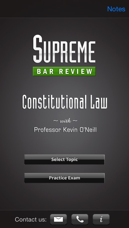 Constitutional Law: Supreme Bar Review