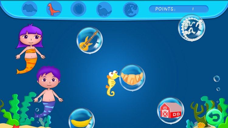 Anna's mermaid bubble pop adventure - free kids learning games