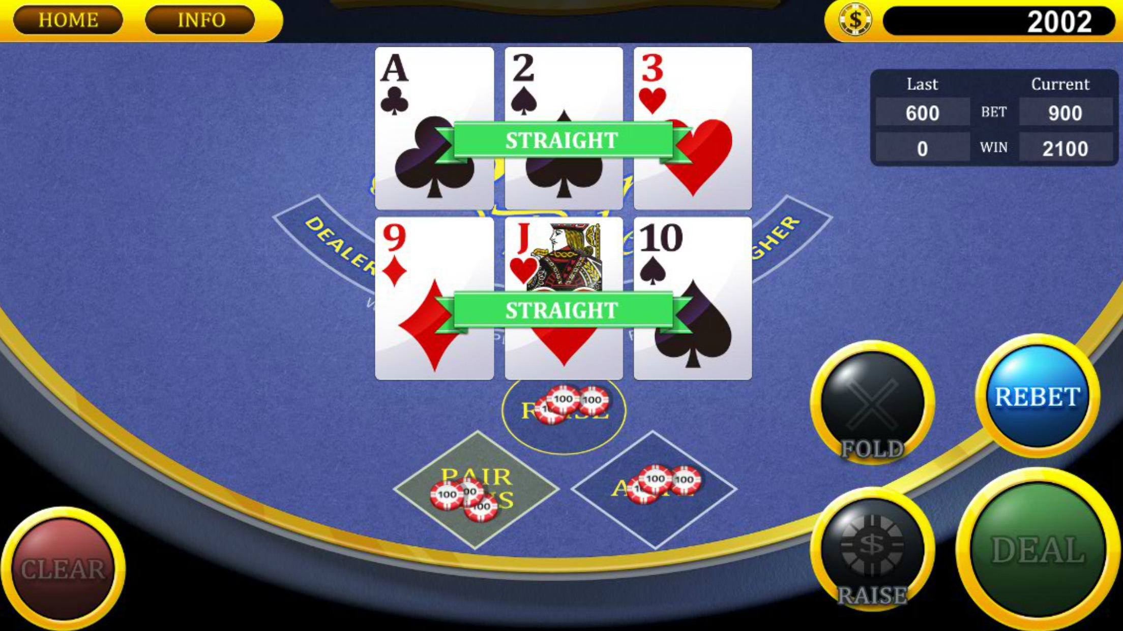 Real Three Card Poker Screenshot