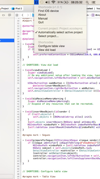 download Shortcode: programmer's utility for Xcode apps 4